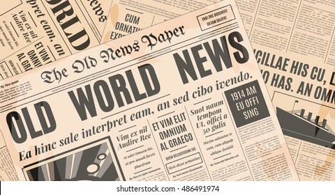 Old Newspaper Images, Stock Photos  Vectors Shutterstock