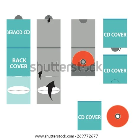 One CD DVD BLURAY Envelope Lock Stock Vector (Royalty Free