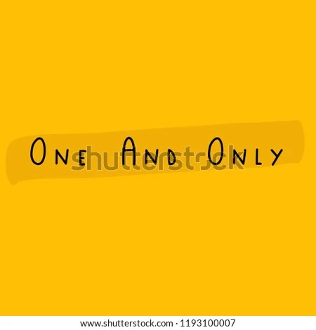 One Only Yellow Background Quote Stock Vector (Royalty Free