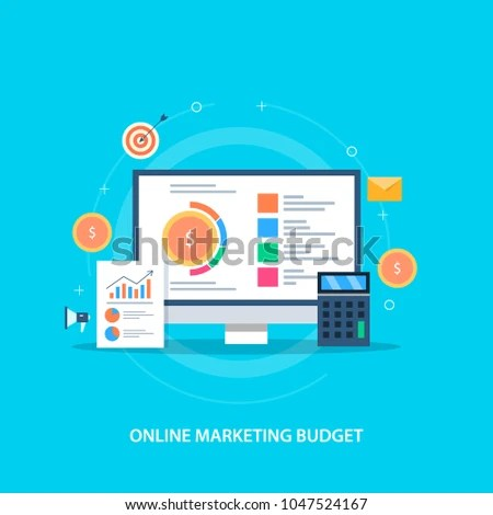 Online Marketing Budget Marketing Revenue Investment Stock Vector