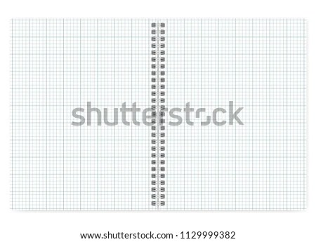 Open Letter Format Notebook White Squared Stock Vector (Royalty Free