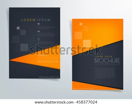 Orange Blue Black Brochure Template Flyer Stock Vector (Royalty Free