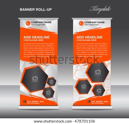 Orange Roll Banner Template Vector Roll Stock Vector (Royalty Free