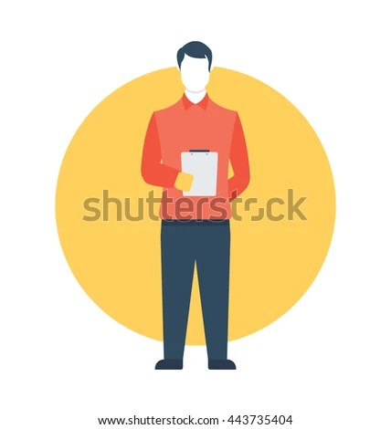 Order Taker Vector Icon Stock Vector (Royalty Free) 443735404