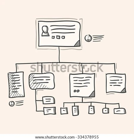 Org Chart Illustration Organization Hierarchy Team Stock Vector