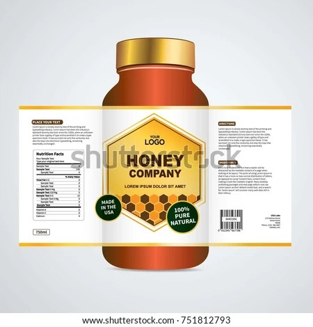 Package Template Design Label Design Mock Stock Vector (Royalty Free