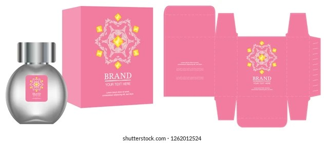 Packaging Design Pink Flowers On Black Stock Vector (Royalty Free
