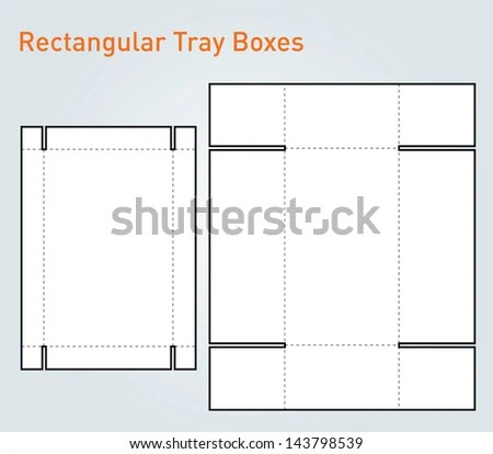 Packaging Tray Box Template Vector Stock Vector (Royalty Free