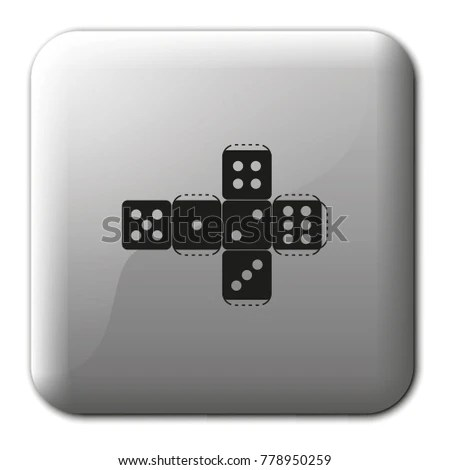 Paper Dice Template Flat Vector Icon Stock Vector (Royalty Free