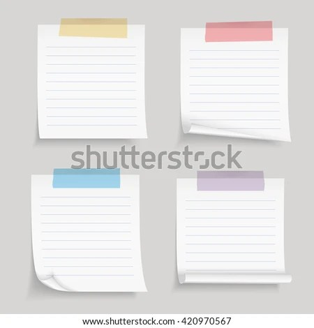 Paper Tape Blank Lined Paper Notes Stock Vector (Royalty Freevintage