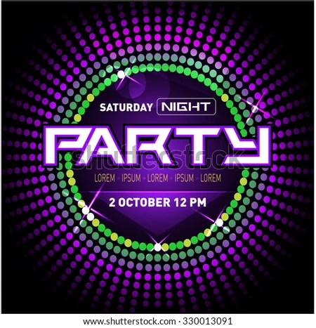 Party Disco Club Flyer Template Your Stock Vector (Royalty Free