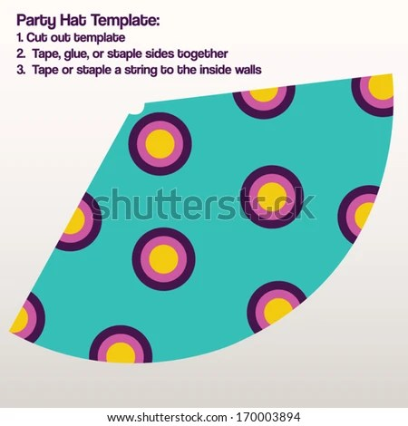 Party Hat Template Vector DIY Make Stock Vector (Royalty Free