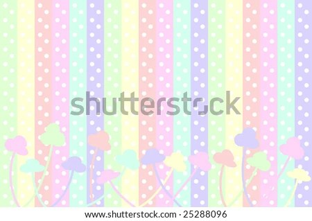 Pastel Polka Dots Stripes Abstract Simple Stock Vector (Royalty Free