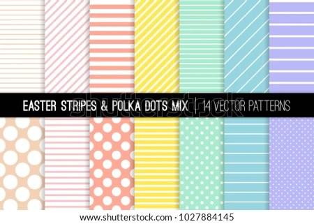 Pastel Rainbow Polka Dot Stripes Vector Stock Vector (Royalty Free