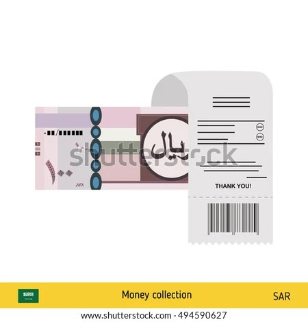 Paying By Cash Invoice Saudi Arabian Stock Vector (Royalty Free