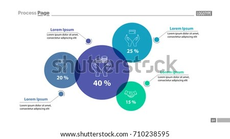 Percentage Comparison Chart Slide Template Stock Vector (Royalty
