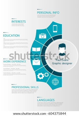 Perfect Resume Flat Style Design On Stock Vector (Royalty Free