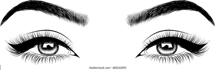 green makeup eyes Stock Illustrations, Images  Vectors Shutterstock