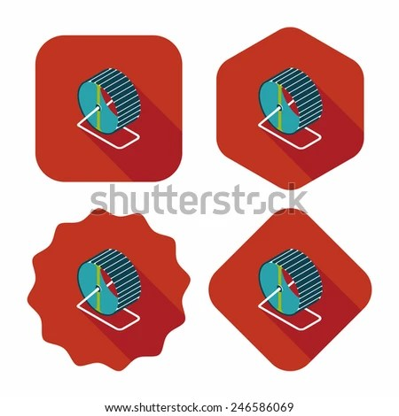 Pet Exercise Wheel Flat Icon Long Stock Vector (Royalty Free