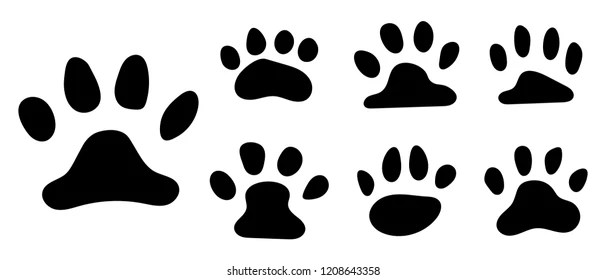 seamless pattern with paw prints stock vector auto electrical
