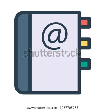 Phonebook Directory Address Stock Vector (Royalty Free) 1067705285