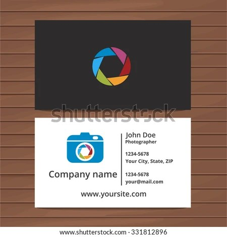 Photographer Business Card Template Two Sided Stock Vector (Royalty