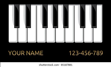 pianist business card Images, Stock Photos  Vectors Shutterstock