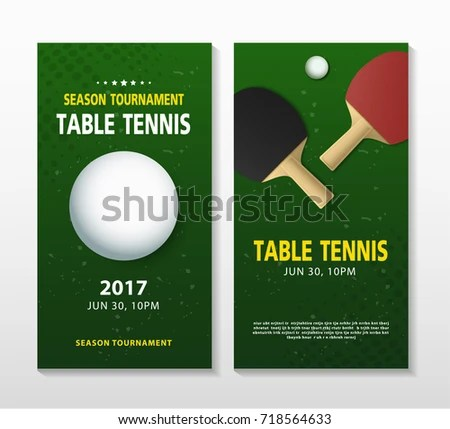 Ping Pong Table Tennis Tournament Poster Stock Vector (Royalty Free