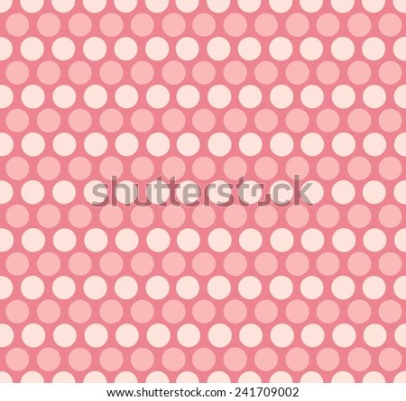 Pink Polka Dot Background Stock Vector (Royalty Free) 241709002