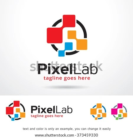 Pixel Lab Logo Design Template Stock Vector (Royalty Free) 373459330