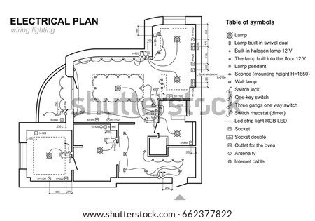 Electrical Plan Vector Wiring Diagram