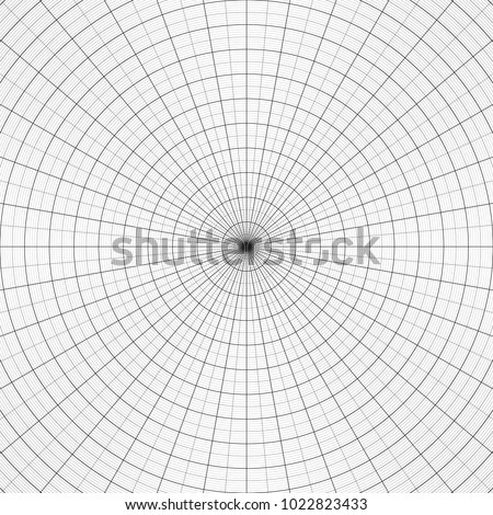 Polar Graph Paper Vtctor Illustration Concentric Stock Vector