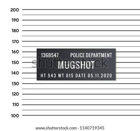 Police Mugshot Criminal Template Vector Silhouette Stock Vector