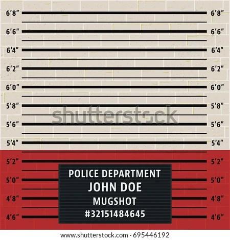 Police Mugshot Template Brick Wall Police Stock Vector (Royalty Free