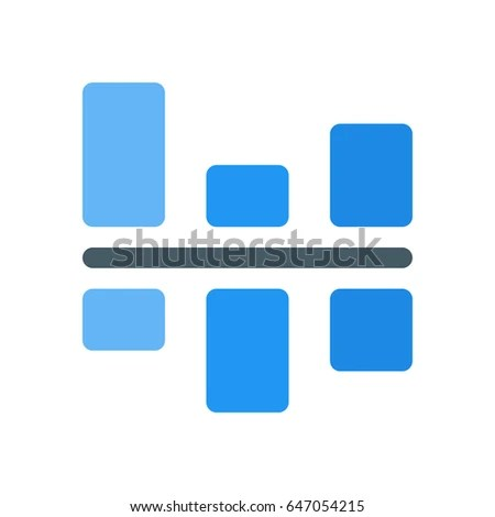 Positive Negative Bar Chart Stock Vector (Royalty Free) 647054215