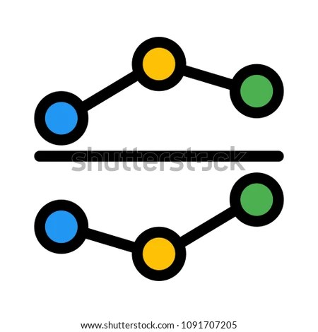 Positive Negative Dot Chart Stock Vector (Royalty Free) 1091707205
