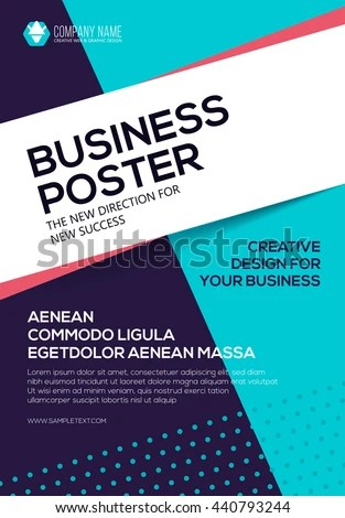 Poster Flat Style Your Business Cover Stock Vector (Royalty Free