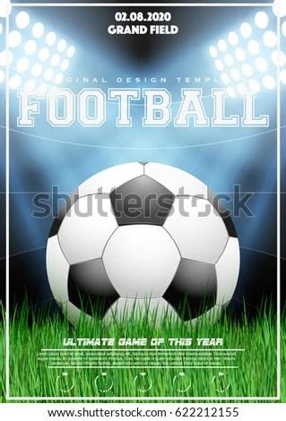 Soccer Powerpoint Template Slidesbasesoccer Tournament Psd Flyer