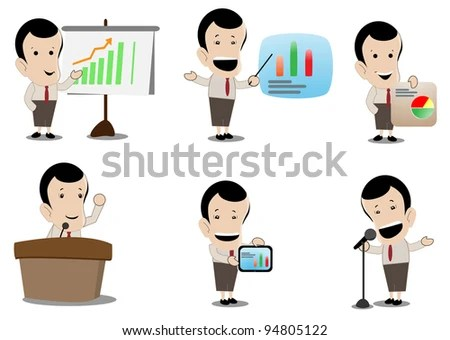 Presentation Business Humor Cartoons Stock Vector (Royalty Free