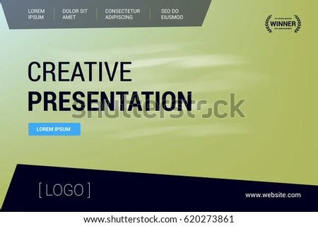 Presentation Cover Use Leaflet Corporate Report Stock Vector
