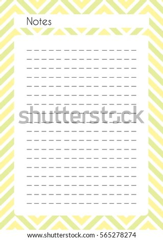 Printable Diary Page Notes Paper Page Stock Vector (Royalty Free