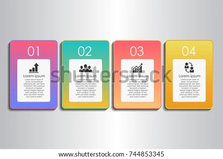 Process Chart Flow Chart Template Infographics Stock Vector (Royalty