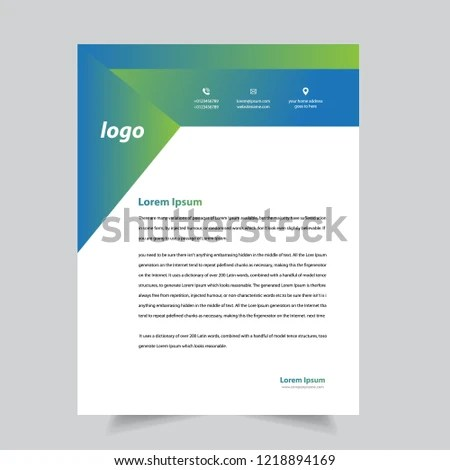 Professional Letterhead Templates Stock Vector (Royalty Free