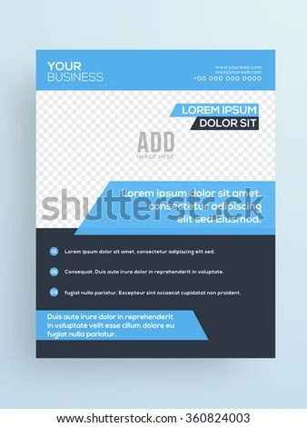 Professional One Page Business Flyer Banner Stock Vector (Royalty