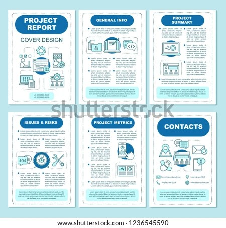 Project Report Brochure Template Layout Programming Stock Vector