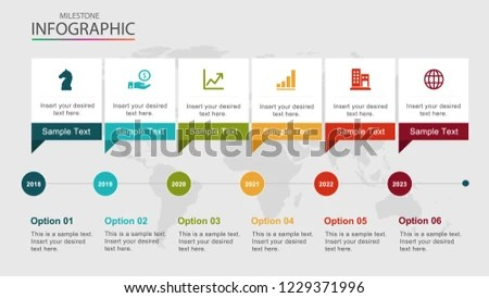Project Timeline Milestone Project Control Management Stock Vector