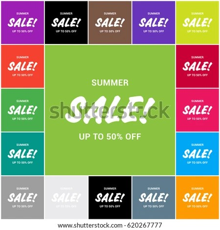 Promotional Summer Sale Banner Templates Vector Stock Vector