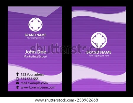 Purple Business Card Stock Vector (Royalty Free) 238982668