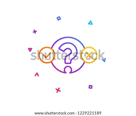 Quiz Test Line Icon Select Answer Stock Vector (Royalty Free