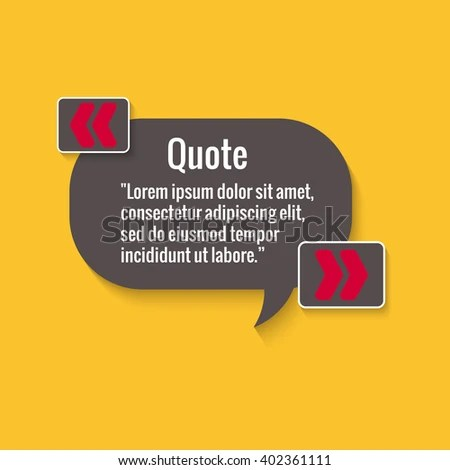 Quote Bubble Empty Quote Template Your Stock Vector (Royalty Free